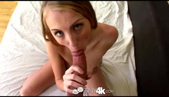 Horny blonde being film while fucking a stranger